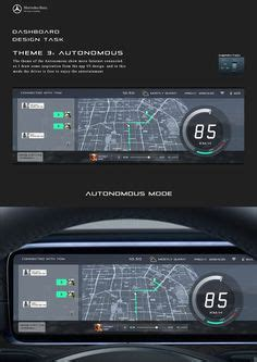 mercedes digital dashboard mercedes benz dashboard design on behance car