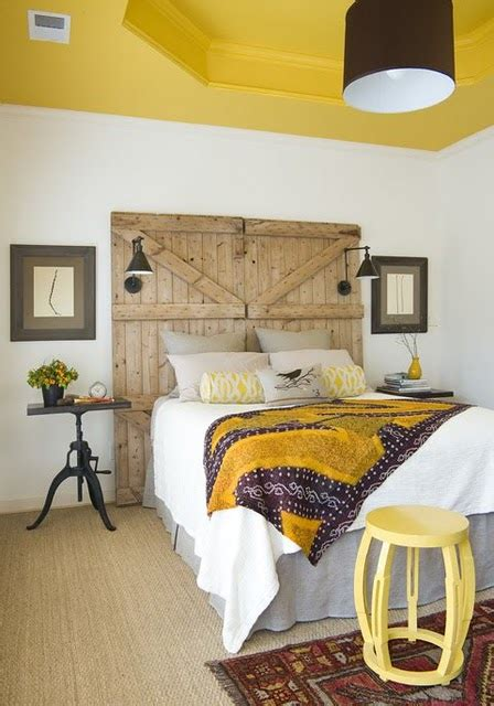 Yellow Barn Door Make An Original Statement With These Rustic Headboards Tuvalu Home