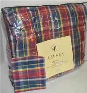 Ralph Lauren Plaid Down Comforter Ralph Lauren Garrison Plaid Down Alternative Twin