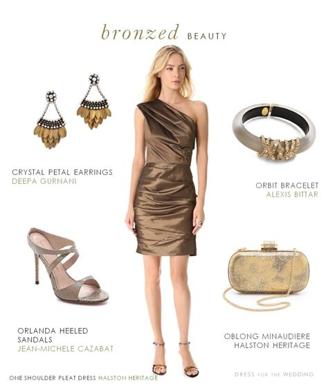 what do i wear to a cocktail bronze cocktail dress