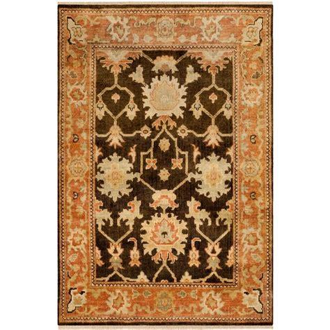 Safavieh Oushak - safavieh oushak brown rust 4 ft x 6 ft area rug osh115a