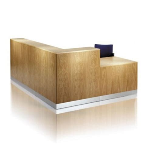 angled reception desk corner reception desk with contemporary wood finish