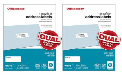 printable stickers office depot free office depot address labels 100 sheets 26 value