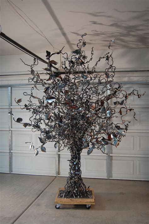 tree sculpture john lovely metal art garden pinterest tree sculpture