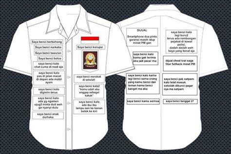 Kaos Aku Tertipu Kata Kata emblem seragam sekolah yang aku benci anotherorion