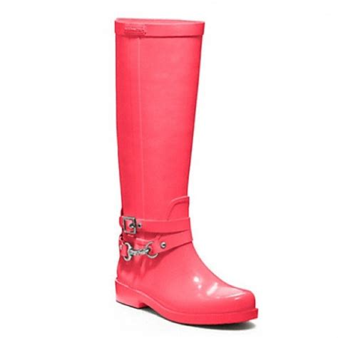 couch rain boots coach pink coach rain boots for darlingdarlene from