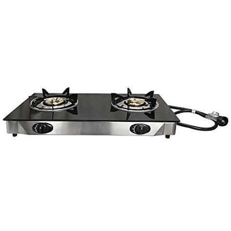 propane gas cooktop deluxe propane gas range 2 burner stove tempered glass