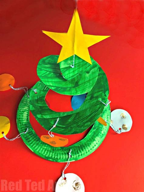 paper plate christmas art decorations made out of paper plates billingsblessingbags org