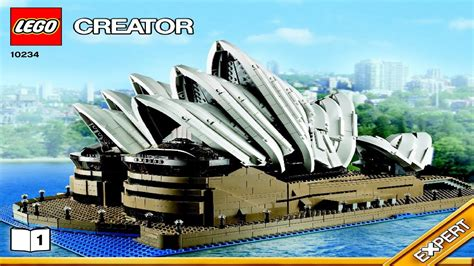 sydney opera house lego 10234 lego sydney opera house creator expert instruction