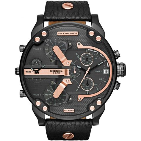 Diesel Move Black Rosegold diesel s black gold mr chronograph diesel from francis gaye jewellers uk