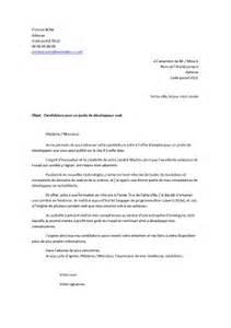 Lettre De Recommandation Manuscrite Ou Dactylographiée Lettre De Motivation D 233 Veloppeur Exemples De Cv