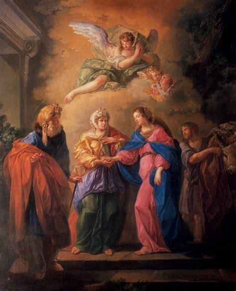 imagen de la virgen maria visitando a su prima isabel luis paret y alc 225 zar la visitaci 243 n de la virgen a su