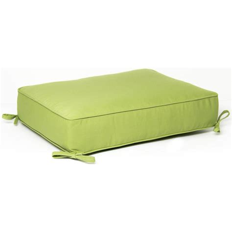 Cushion Ottoman Ultimatepatio Large Replacement Outdoor Ottoman Cushion With Piping Canvas Ginkgo