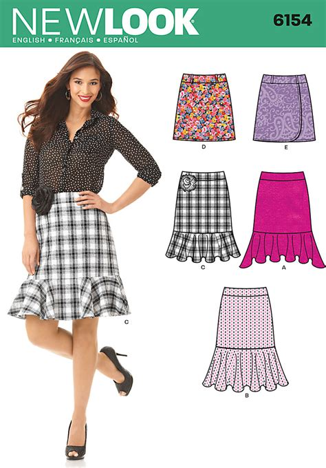 pattern review best of 2012 new look 6154 misses skirt