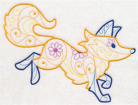 Special Cottonseeds Blanket Winter Foxy machine embroidery designs at embroidery library