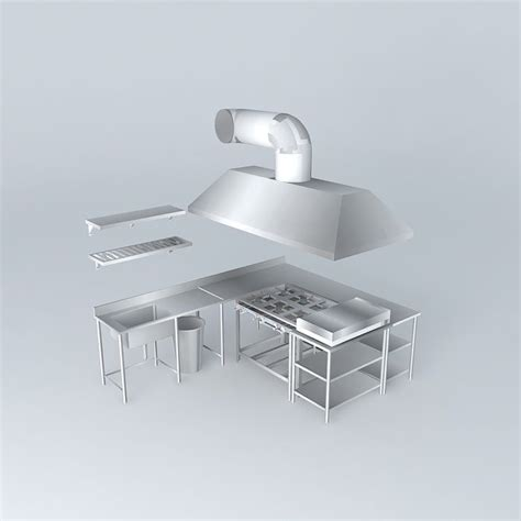 sir alex ferguson 3d model obj cgtrader com kit233 bench coifa and stove stainless by free 3d