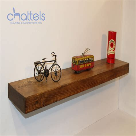 rustic wood floating shelves reclaimed chunky floating shelves wall shelf wood rustic wooden ebay