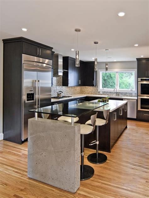 Modern Kitchen Decor by Sleek Contemporary Kitchen Gardens Countertops And