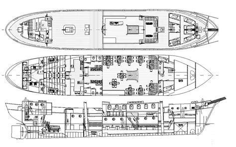 Ship Engine Room Layout Design by Classic Brig Mercedes Accomodation