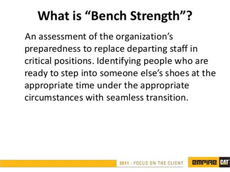 what is a bench manager succession planning ppt