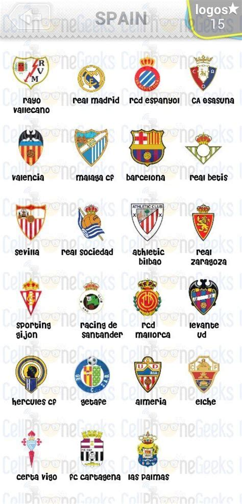 level  logo quiz football clubs spain answers logo