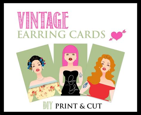 printable earring card template earring card designs diy earring cards that won t