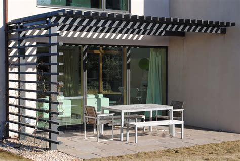 Steel And Timber Pergola Outdoor Room Pinterest Steel Pergola With Canopy