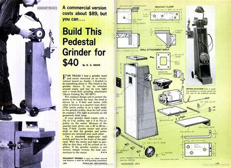 how to make a bench grinder stand pdf diy bench grinder pedestal stand plans download bench