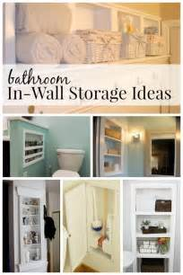 remodelaholic 25 brilliant in wall storage ideas for small space bathroom storage ideas diy network blog