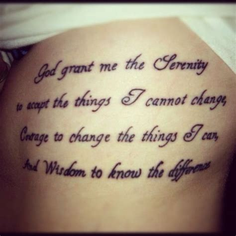 god grant me the serenity tattoo my personal quot quot god grant me the serenity to accept