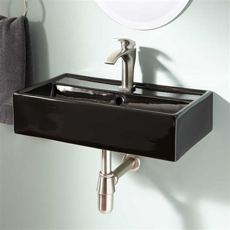 bathroom sink hardware signature hardware magali porcelain wall mount bathroom