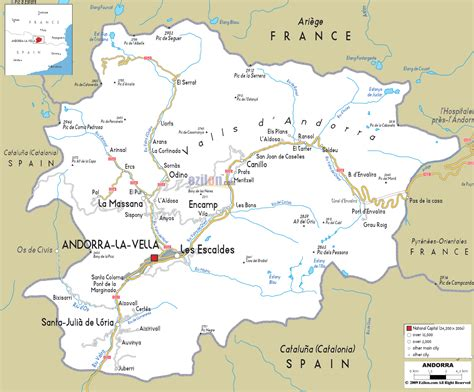 where is andorra on the map detailed clear large map of andorra ezilon maps