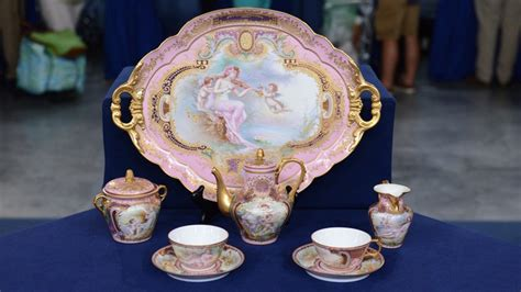porcelain doll appraiser porcelain cabaret coffee set ca 1900 antiques roadshow