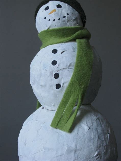 How To Make Paper Mache Snowman - papier mache snowman born in japan