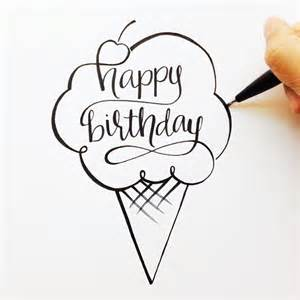 sketches for birthday card lettered happy birthday mihalik letters