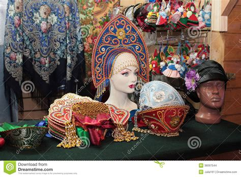 traditional russian gifts russian souvenir shop moscow stock images image 36097544