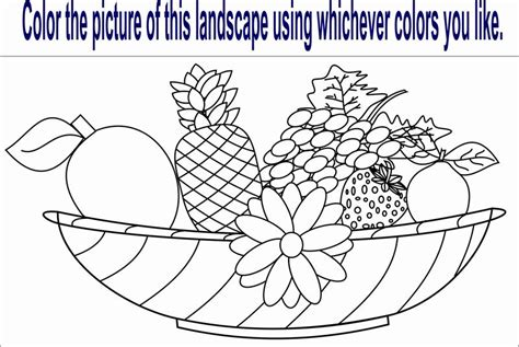 Fruit Worksheet Coloring Pages Fruits And Vegetables Coloring Page