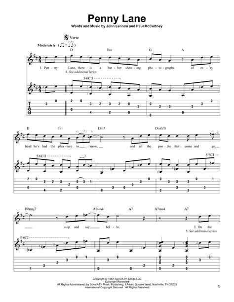 Penny Lane Guitar Chords