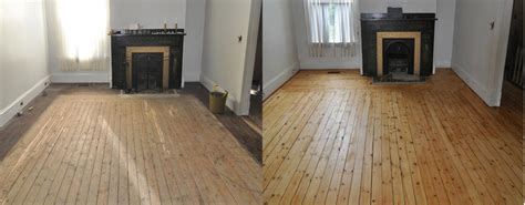 Refinished Hardwood Floors Before And After Expert Sanding Refinishing Repair And Restoration Services Nu Floor