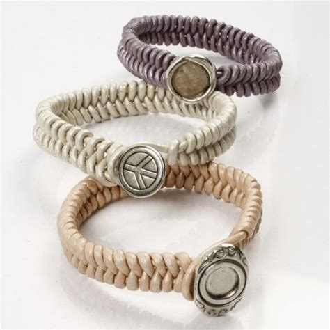 braided leather bracelets   link button fastener diy guide