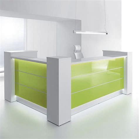 Illuminated Reception Desk Valde High Gloss Illuminated Reception Unit L Formation Huntoffice Ie