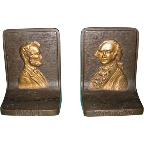 Bradley Hubbard L by Lincoln Washington Bookends By Bradley Hubbard From