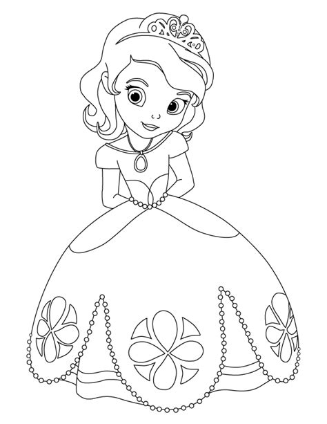 Sofia Princess Coloring Pages Zallie Coloring Pages Sofia The First Coloring Page