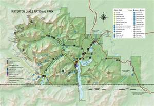 canada national park map map of waterton lakes national park waterton lakes