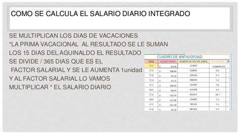 1720 salario diario integrado tope 2015 tabla de salario diario integrado 2016 tabla factor