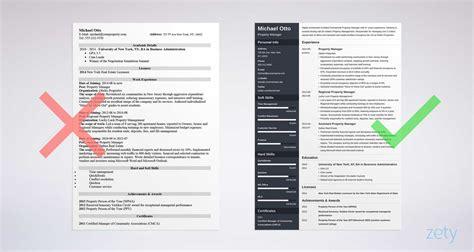 property manager resume sample pinteres