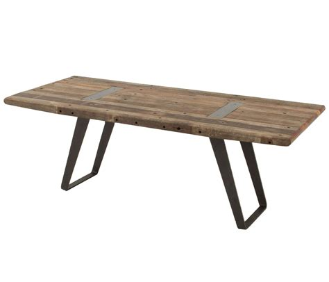 industrial reclaimed wood dining table 85 zin home
