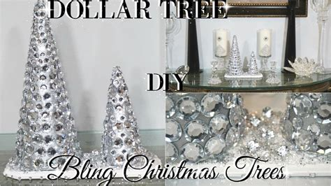 dollar tree diy home decor diy dollar tree glam christmas trees dollar store diy