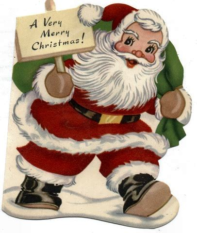 free christmas cards santa claus cards free clip art from vintage holiday crafts 187 blog archive