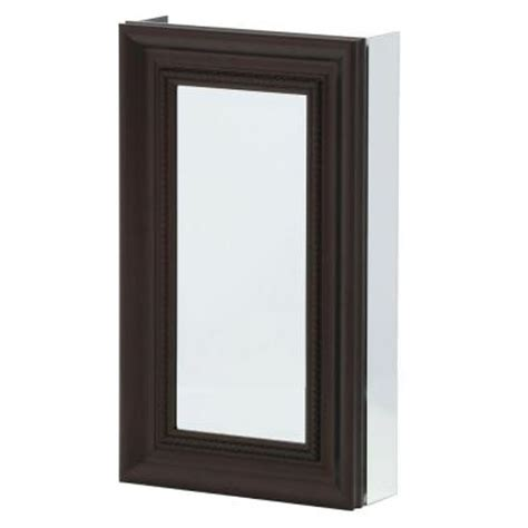 oil rubbed bronze medicine cabinet recessed pegasus 15 in x 26 in recessed or surface mount mirrored